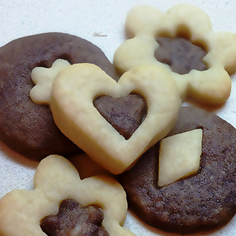 2-colors Shortbread Cookies