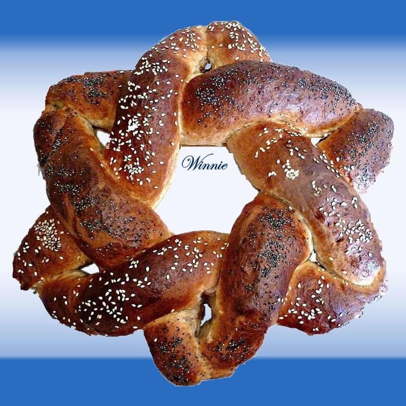 Magen-David shaped Challah