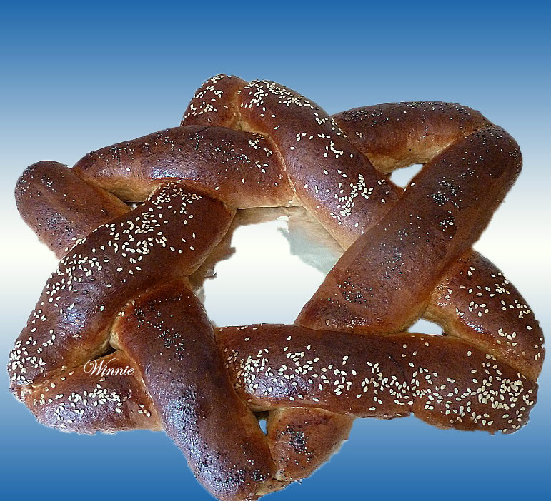 Star-of David Enriched Challah