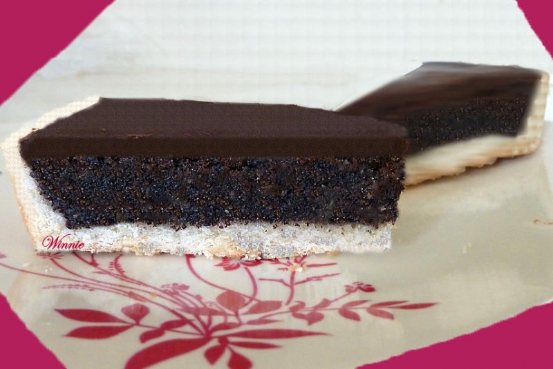 Poppy-Chocolate Tart