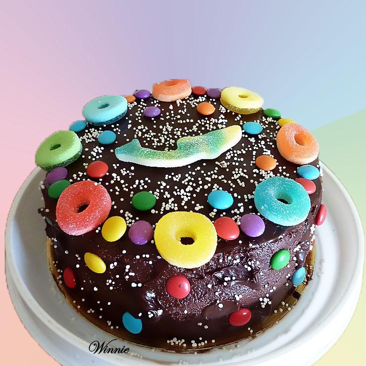 Color layer cake - Birthday cake