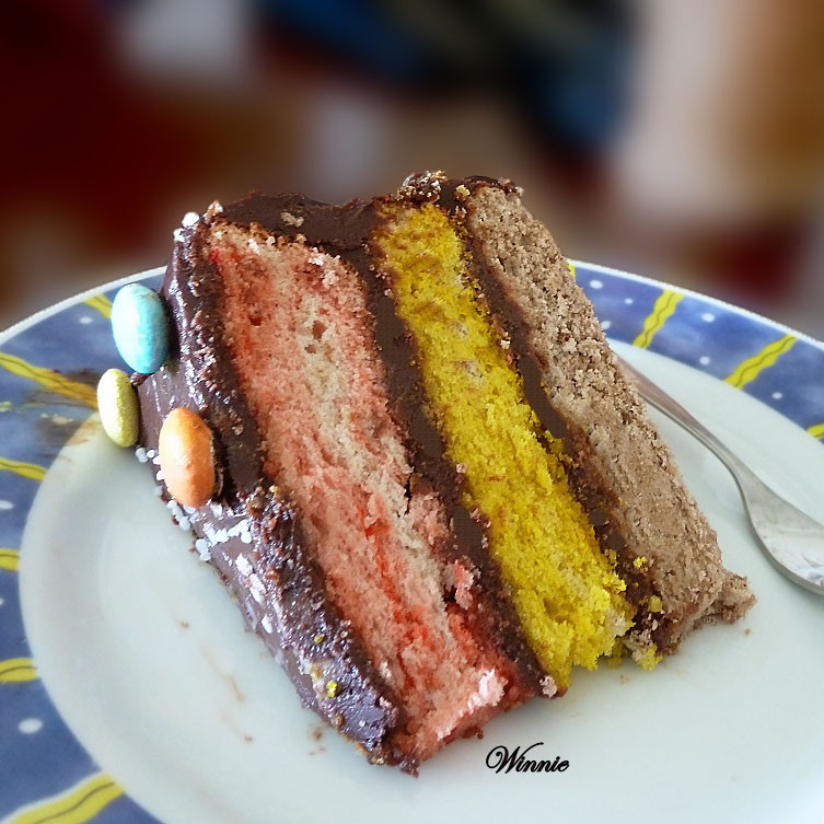 Color layer cake - Birthday cake