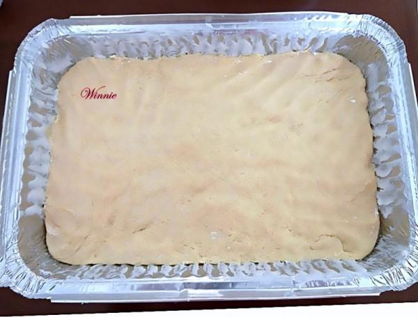 עוגת שזיפים על בצק שמרים ובציפוי עוגה פריכה-א