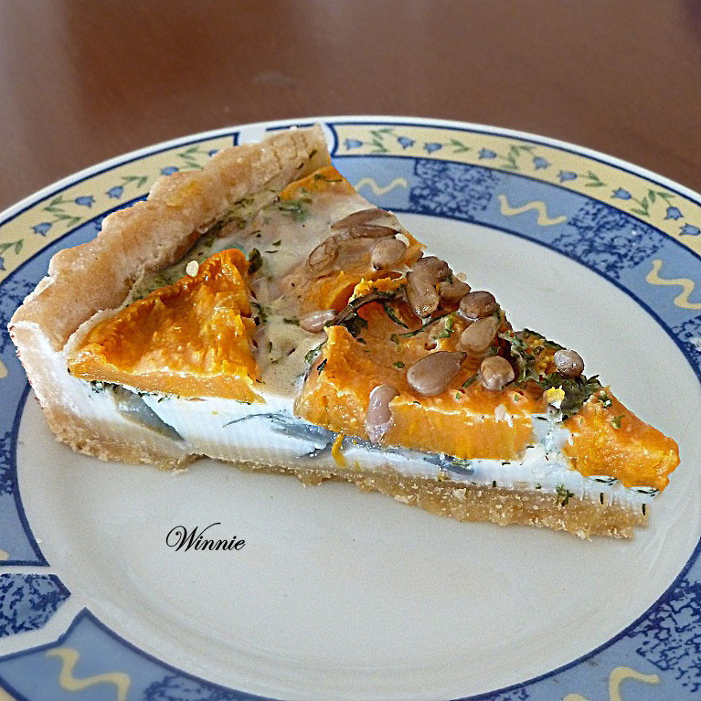 Purple Onion & Sweet-Potato Quiche