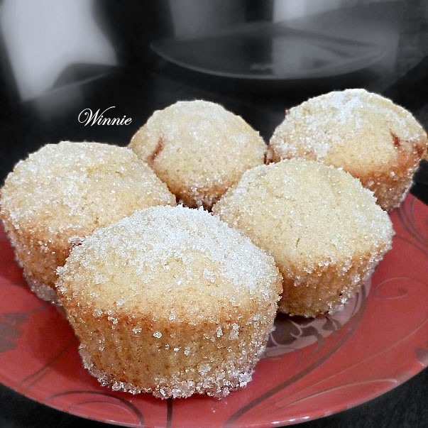 Jam Doughnut-Muffin, with sugar coating