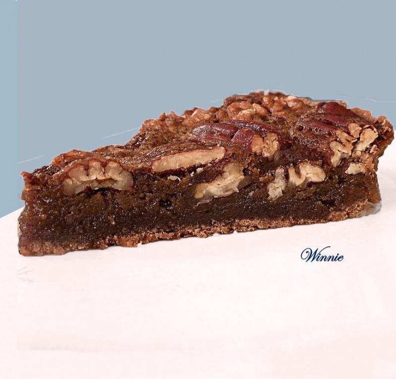 Rich Pecan Tart with Date-syrup