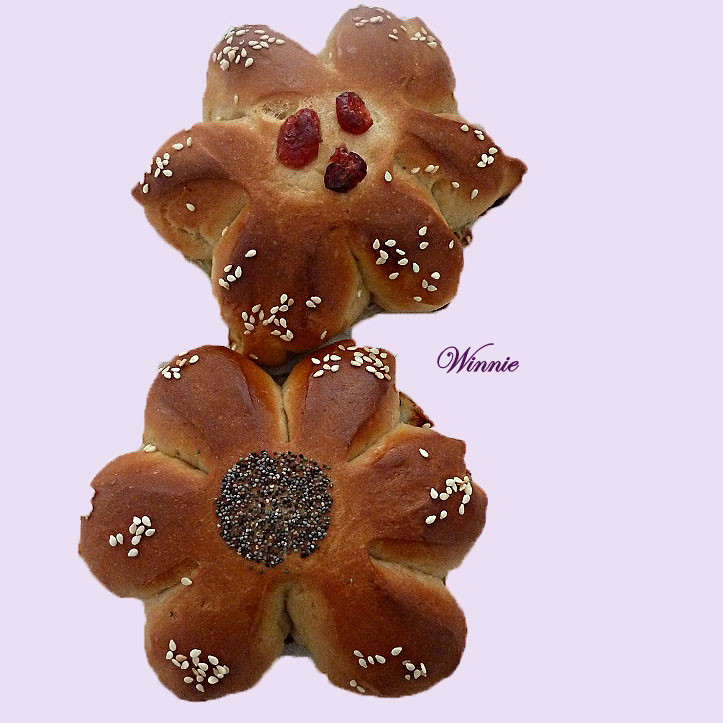 Teddy-bear and Flowers Challlahs