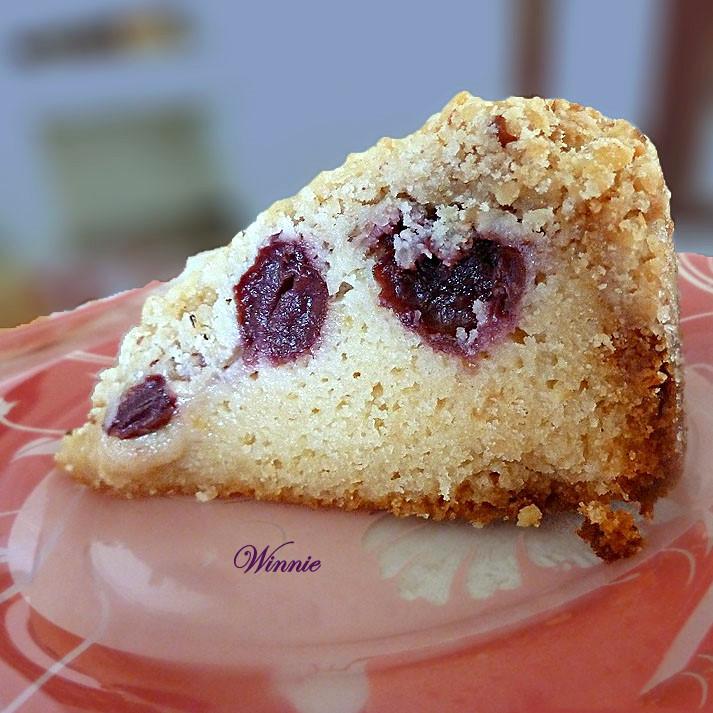 Cherry Crumb Coffee Cake