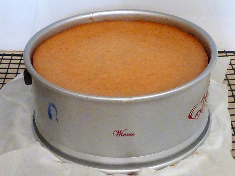 עוגת גבינה עם דלעת בציפוי קרמל פקאן-יג