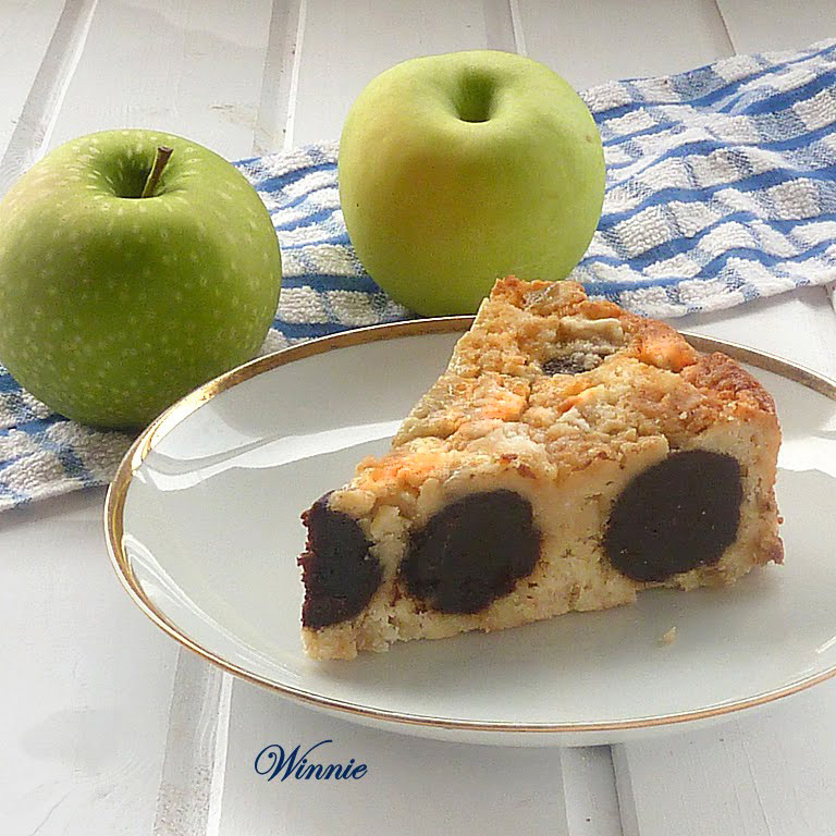 Chocolate Polka Dot (inside) Apple Cake