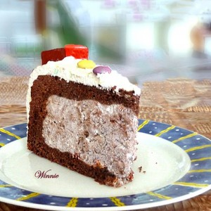 Chocolate Cake with Whipped Cream Surprise Filling