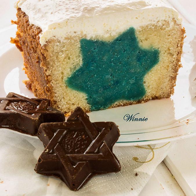 Star-of-David filled Cake