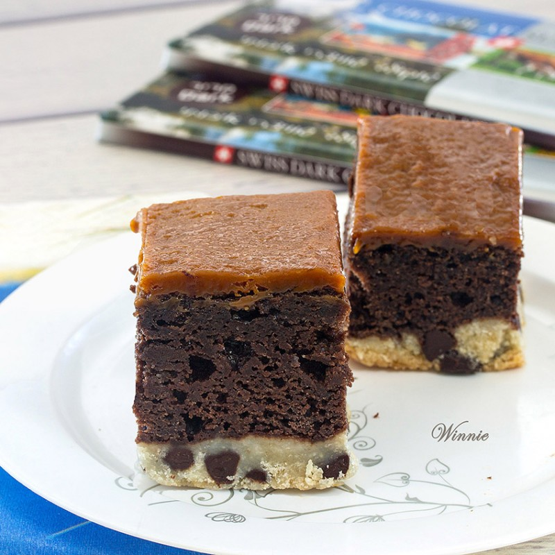 Rich Biscoff-spread Brownies with Shortbread Crust
