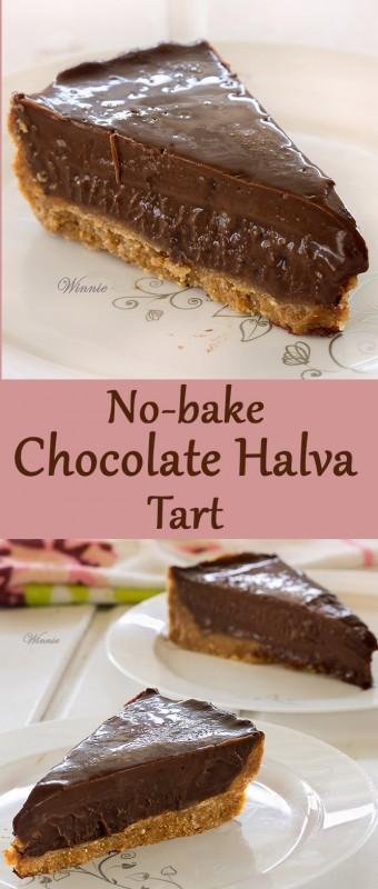 No-bake Chocolate Halva Tart