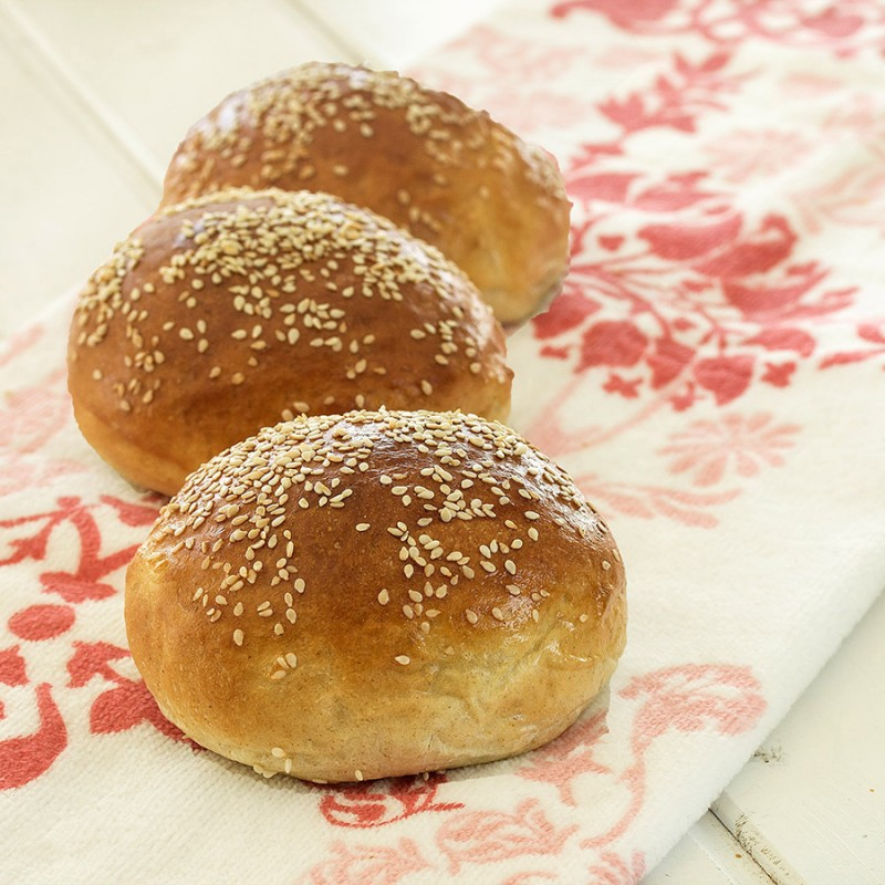 Challahs and Rolls with Whole-wheat and Semolina