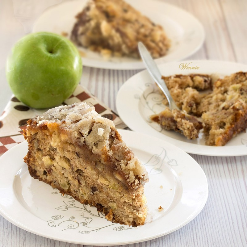 Apple Cake with Caramel Glaze