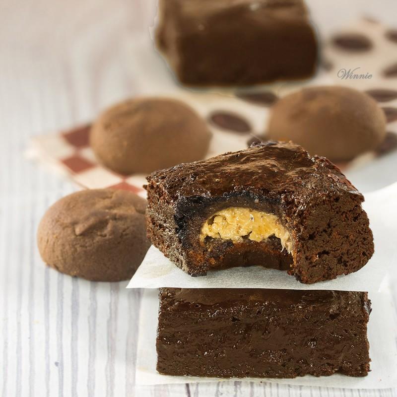 Cookie Stuffed Brownies
