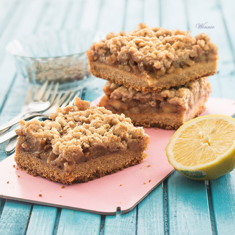 Apple Bars with Honey and Cinnamon