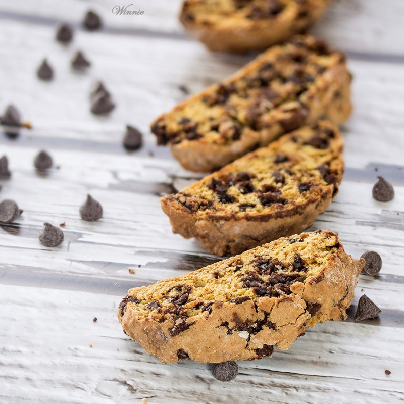 Pumpkin Chocolate Chip Biscotti
