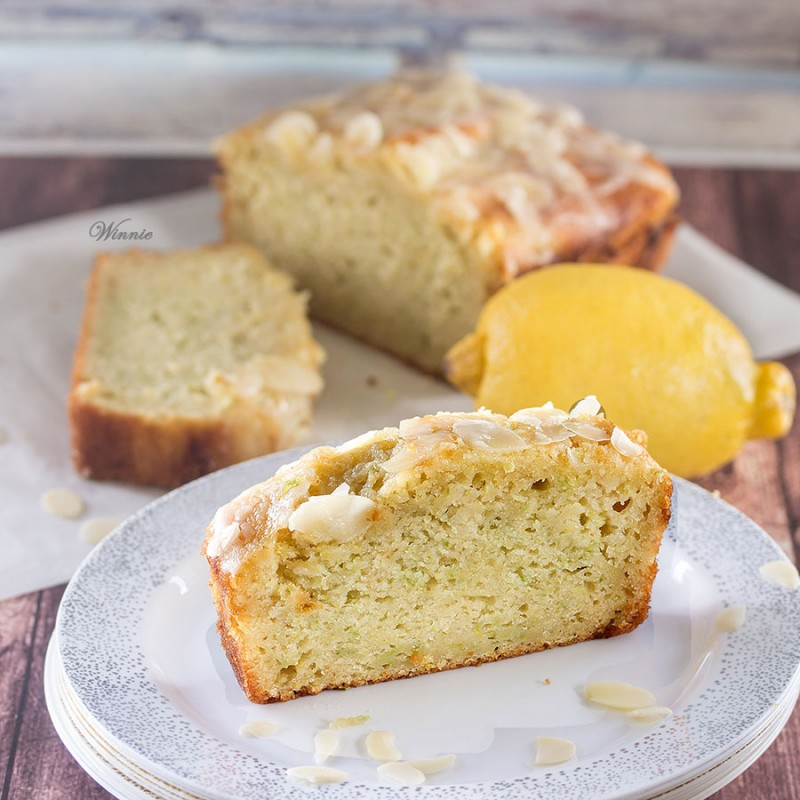 Zucchini Lemon Cake with Lemon Glaze