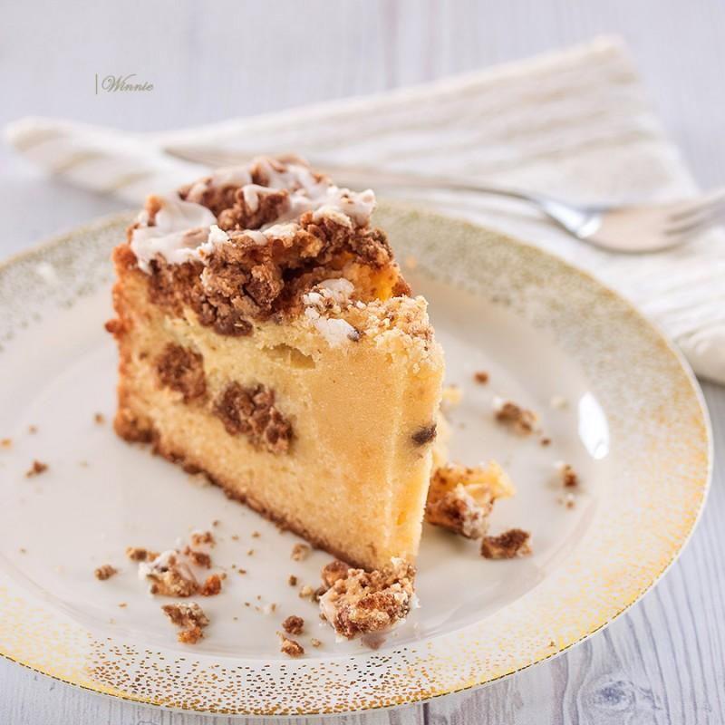 Cream-Cookie Cake with sugar coating