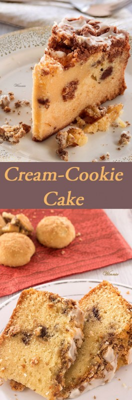 Cream-Cookie Cake with sugar coating