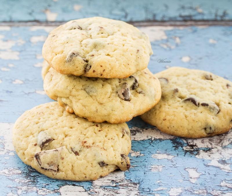 Cream-Cheese Chocolate-Chips Cookies