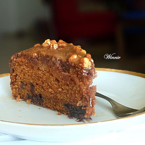 Pumpkin Chocolate-chip Cake with Honey Glaze